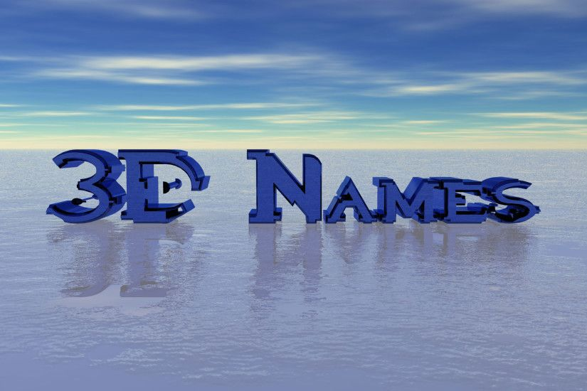 3D Animation Name Wallpaper