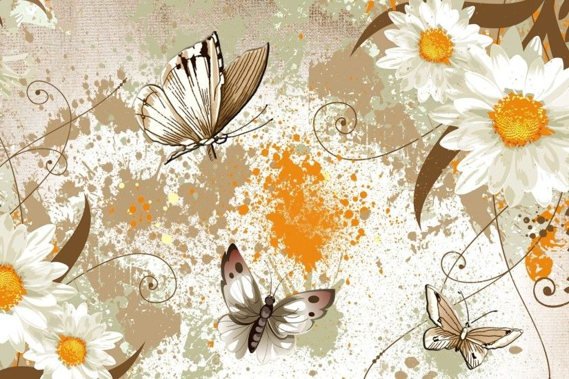 Splatter Tag - Flowers Health Butterflies Yellow Paint Appeal Fragrant Gold  Aroma Papillon Aromatic Herb Brown