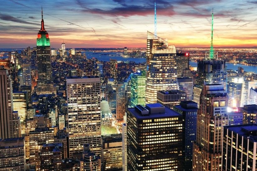 1920x1080 Wallpaper new york, city, top view