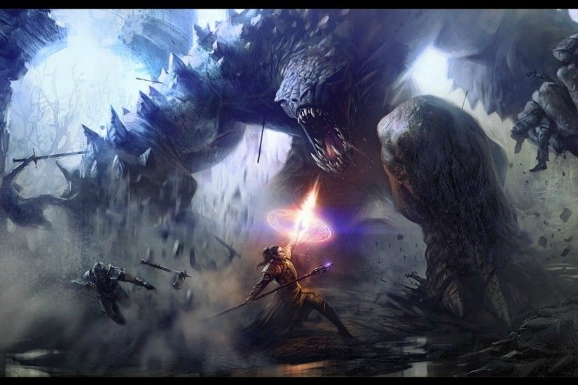 Battle Computer Wallpapers. Battles Monsters Fantasy