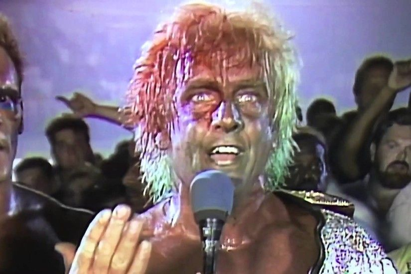 Ric Flair. Bloodied w Green Mist