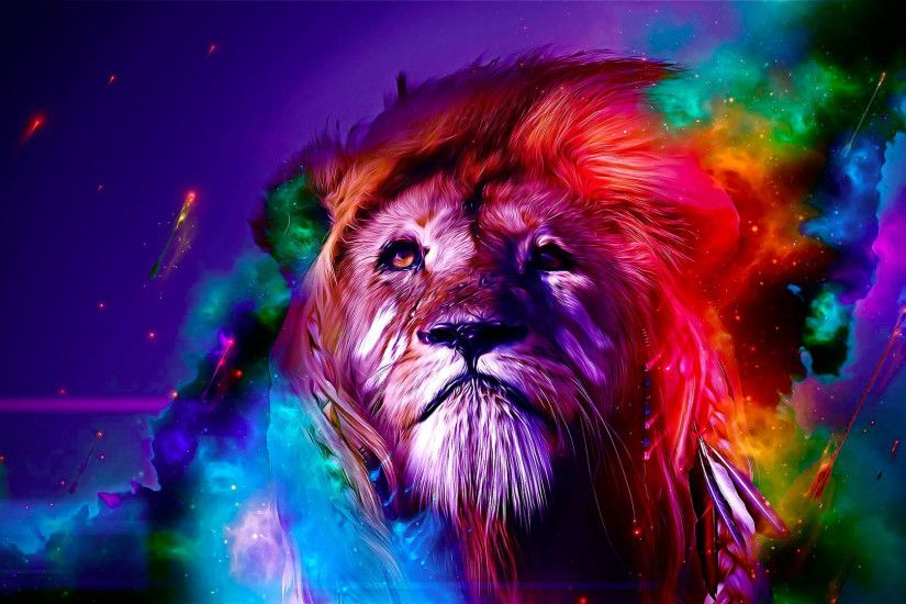 hd pics photos beautiful attractive lion colorful animals abstract hd  quality desktop background wallpaper