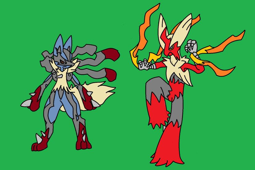 Mega Lucario and Blaziken by PoniesMathematical Mega Lucario and Blaziken  by PoniesMathematical