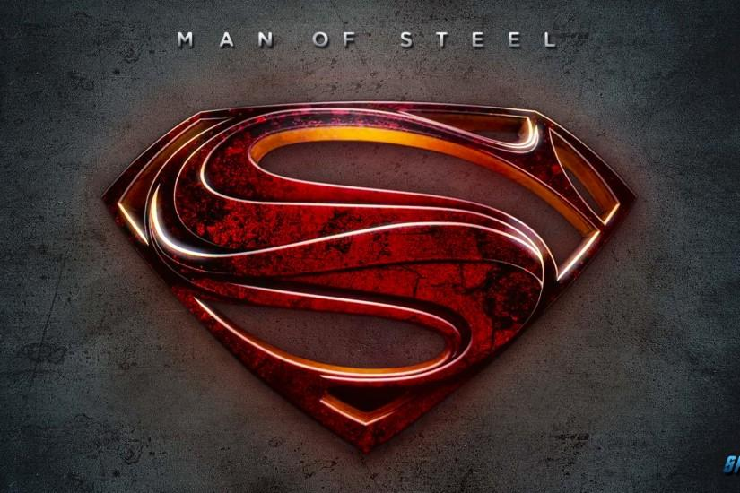 HD wallpaper Man Of Steel – Superman Red Logo Wallpaper