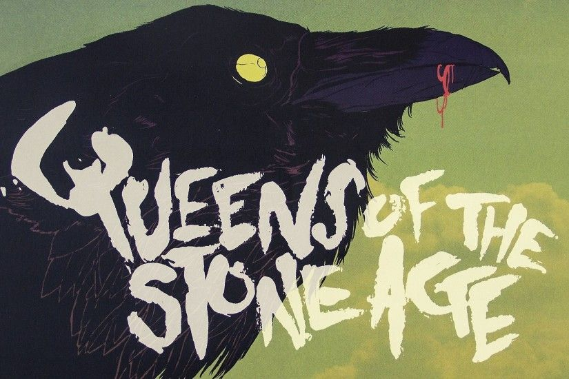 Raven Band Queens Of The Stone Age Green Yellow Red Black Bird Music Blood