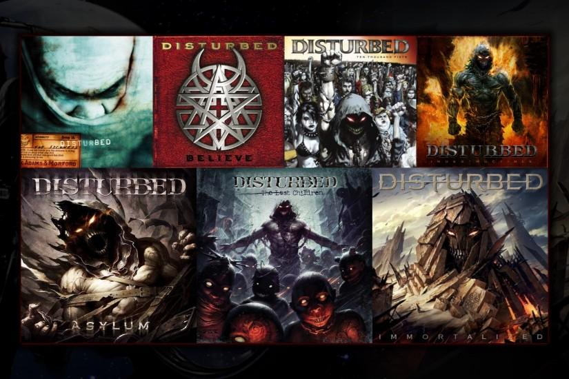 I just made this Disturbed discography wallpaper, thought I'd share  [1920x1080] ...