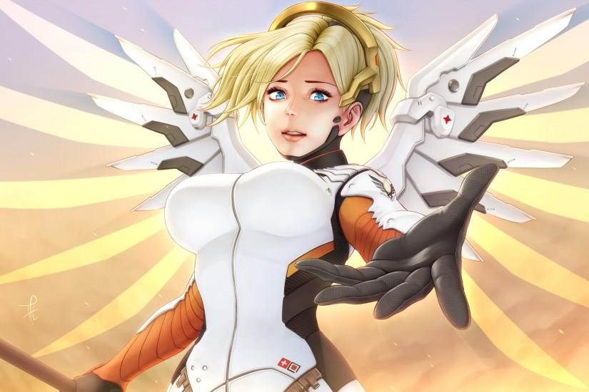 free mercy overwatch wallpaper 1920x1200 for phones
