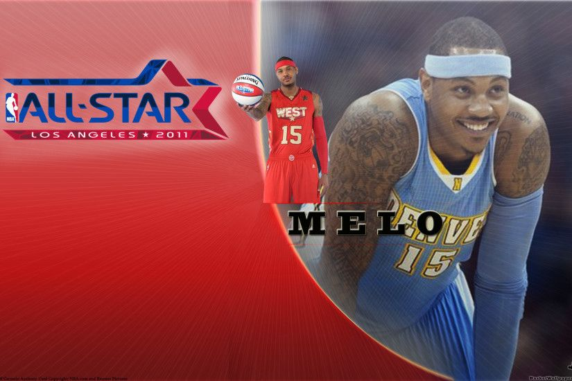 Carmelo Anthony All-Star 2011 Widescreen Wallpaper
