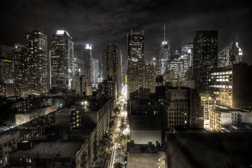 New York City at night HD Desktop Wallpaper
