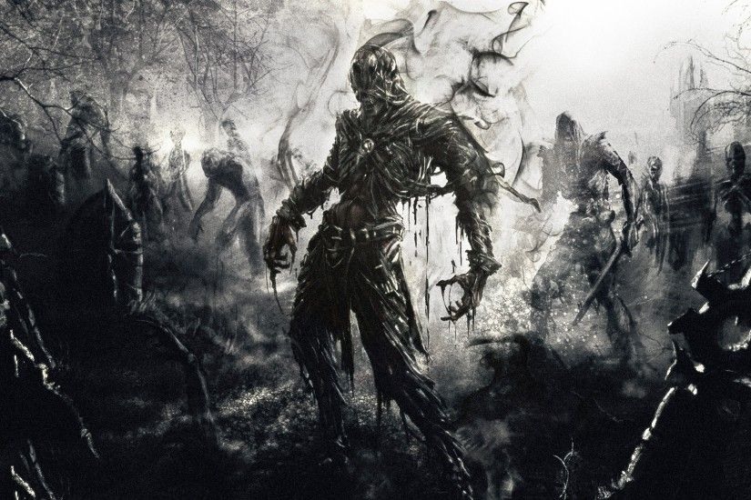 Preview wallpaper zombies, fantasy, art 1920x1080