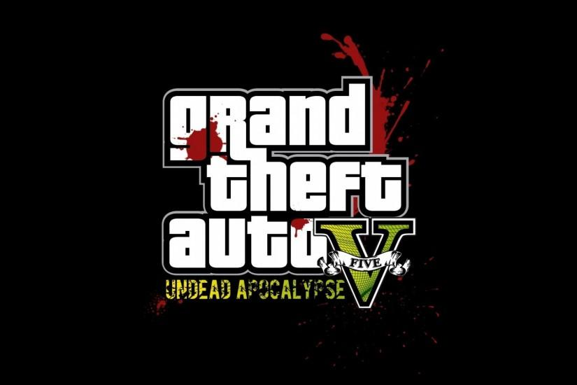 Preview wallpaper gta, grand theft auto 5, undead apocalypse, blood,  graphics,