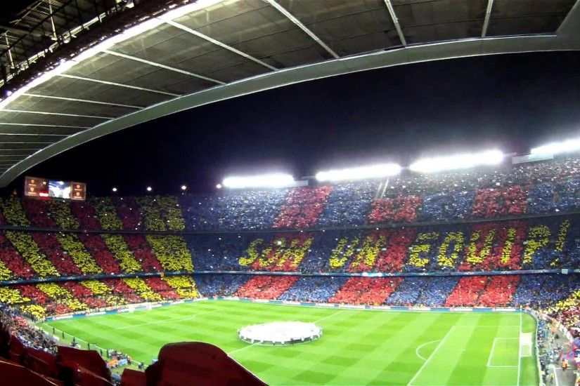 CAMP NOU ATMOSPHERE BEFORE MATCH BARÇA 4 - MILAN 0 12 MAR 2013 - YouTube