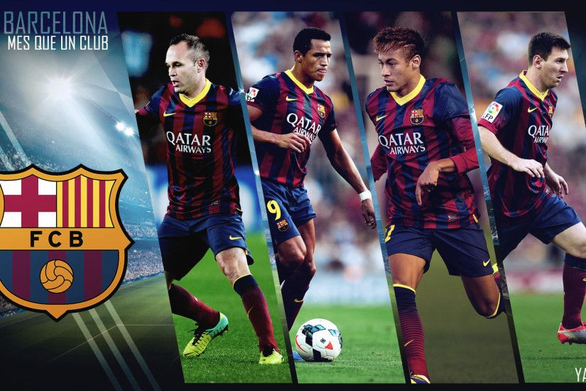... Amazing FC Barcelona Neymar Highlights - FC Barcelona Wallpaper HD ...  Photo Collection Neymar Barcelona Wallpaper 2014 Suarez Messi ...