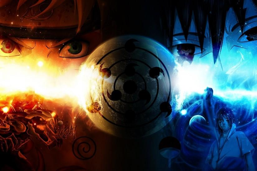 Naruto, Sasuke, Uzumaki Naruto, anime, sharingan, eyes Wallpaper