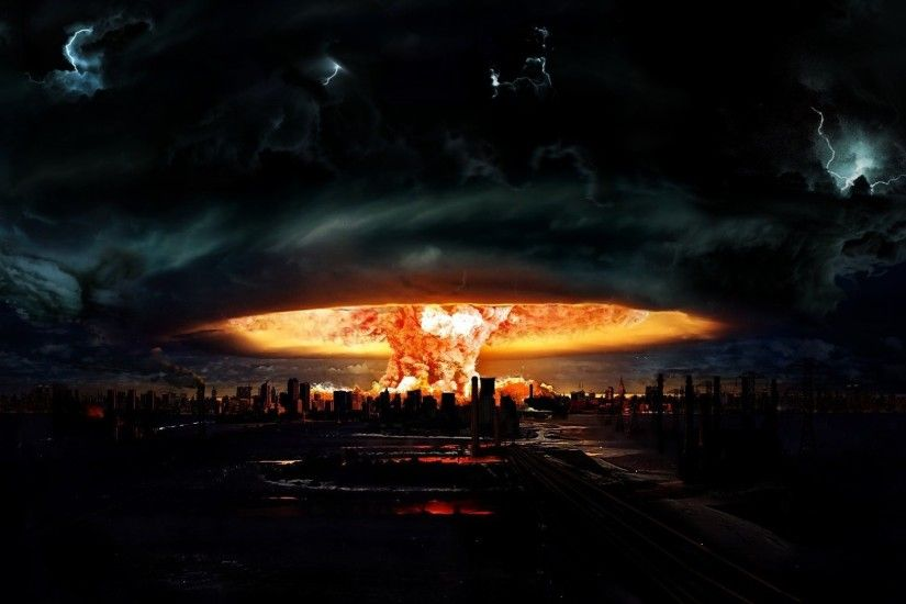 ... end of the world, explosion. Open wallpaper
