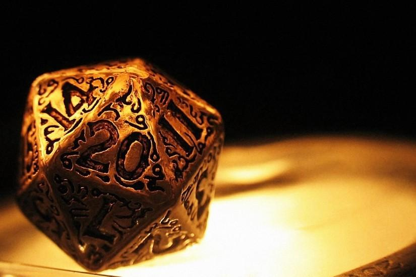 20 Sided Die D20 Dice Games Geek Gold Wallpaper