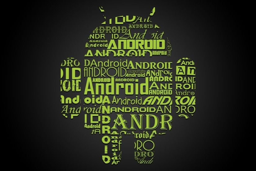 Android Fighting Apple Android Text Cloud Wallpaper