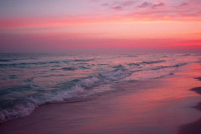 Pink Beach 14 Wallpaper Background Hd