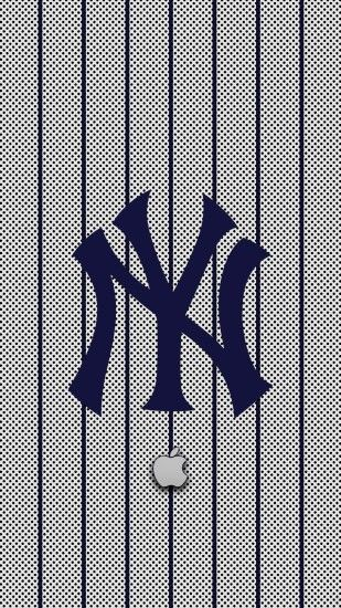 View Larger Image New York Yankees Logo iPhone Wallpaper