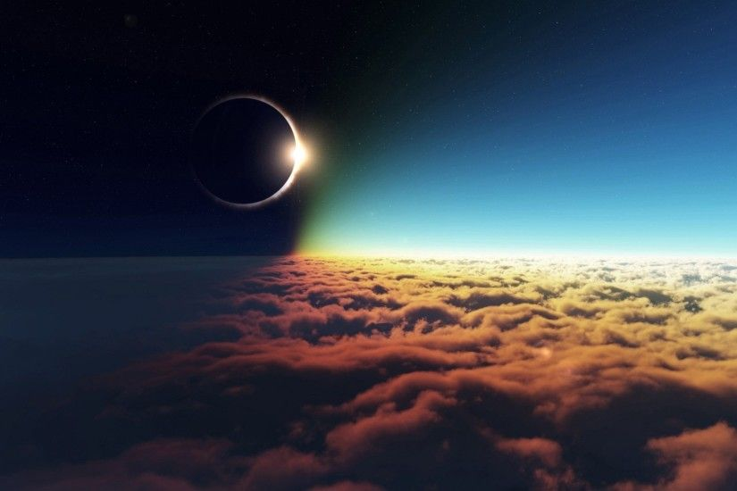 Awesome Solar Eclipse Wallpaper .