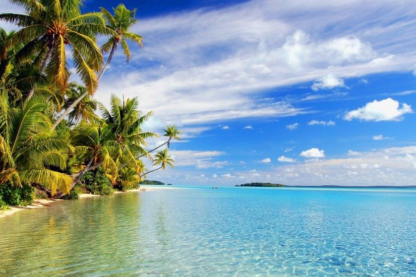 ... Tropical Island Wallpapers for Desktop - WPAisle Beaches Hd Background  Wallpaper 51 HD Wallpapers #7279 ...