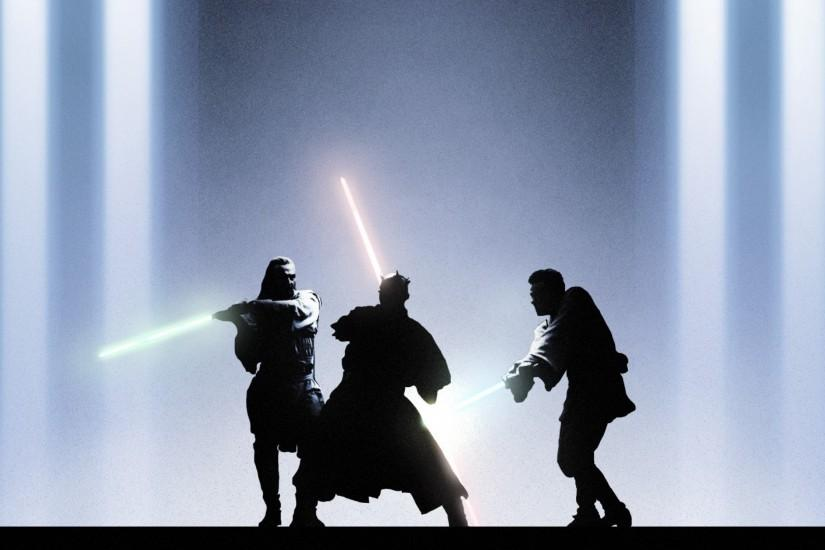Preview wallpaper star wars, episode i, the phantom menace, qui-gon jinn