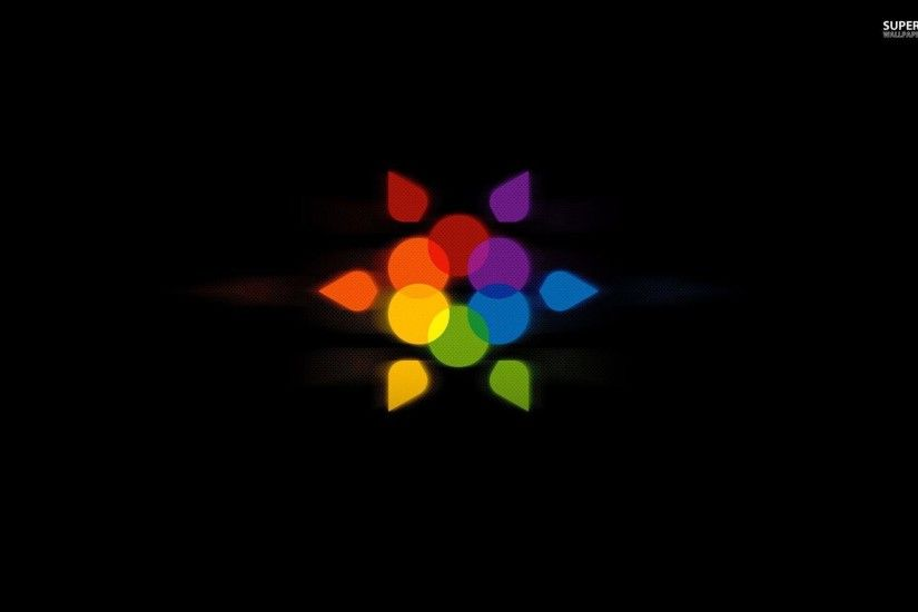 Rainbow flower wallpaper - Abstract wallpapers - #