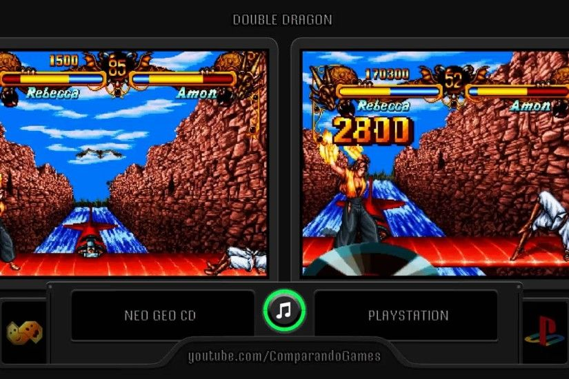 Double Dragon (Neo Geo Cd vs Playstation) Side by Side Comparison - YouTube