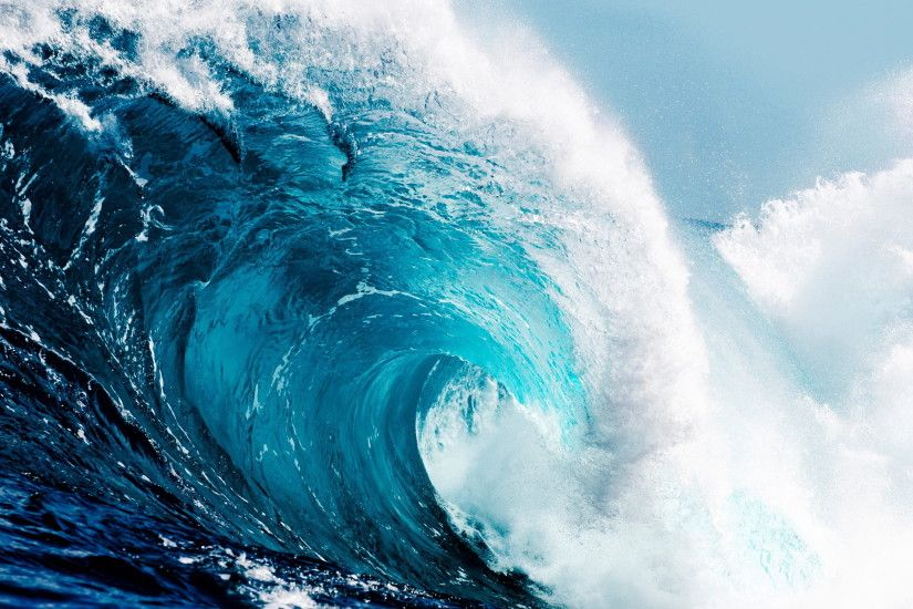 tsunami poster, the ocean, wave, sea, blue, water, nature,