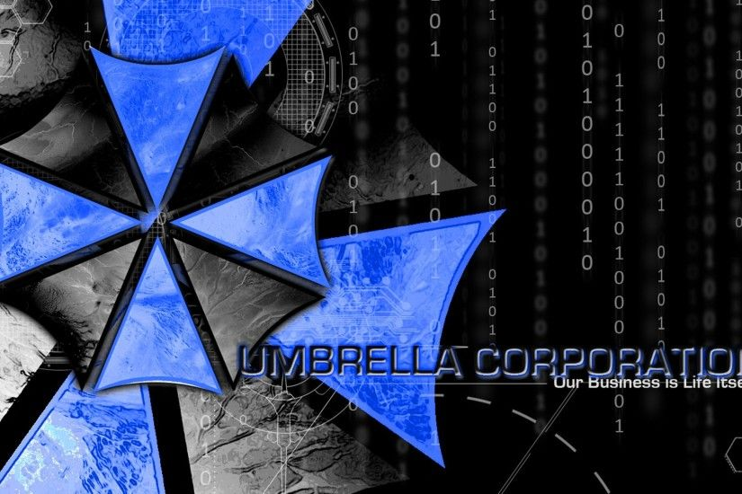 Resident Evil, Umbrella Corporation, Blue, Black, Game. Wallpaper Details