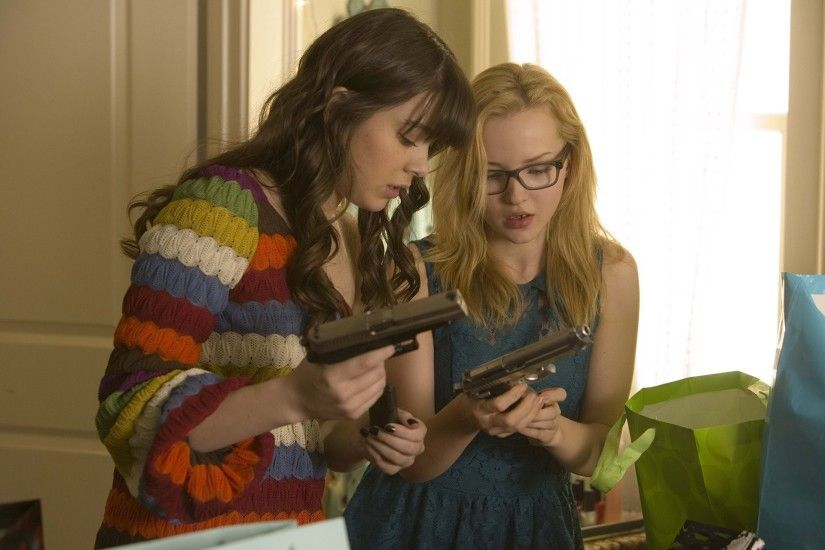 is especially dangerous barely lethal haley staynfeld hailee steinfeld dove  cameron dove cameron girls weapon guns