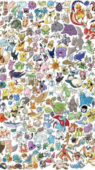 Many Pokémon characters - iPhone HD wallpaper