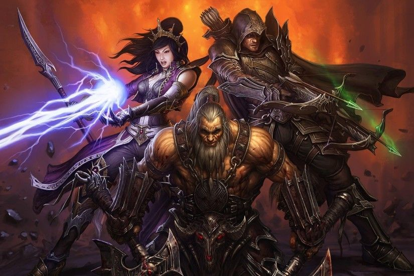 Diablo, demon, hunter, barbarian, sorcerer, 1920x1200 HD Wallpaper .