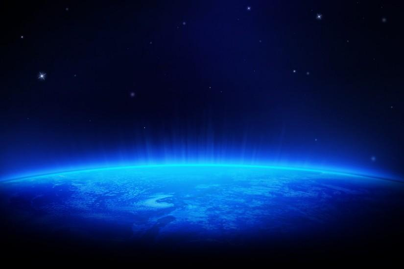 Blue Space HD Wallpaper @ 1080p HD Wallpapers