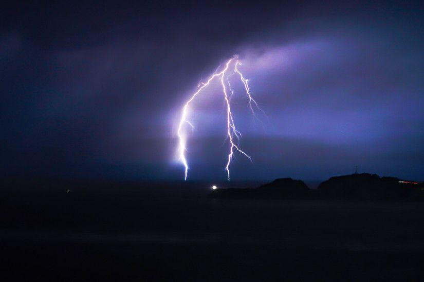 3840x2160 Wallpaper lightning, thunderstorm, sky, night