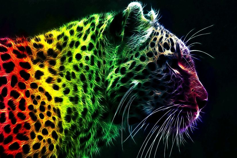 Colorful Leopard Backgrounds, wallpaper, Colorful Leopard Backgrounds .