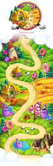 Make a journey to a magical Candy Land cramfull with gingerbread houses and  trees of sweet