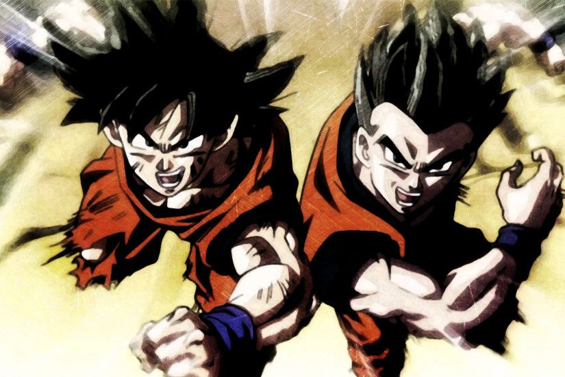 ... DBS Lacco Tower Ending Goku and Gohan HD Wallpaper by ygoofficial