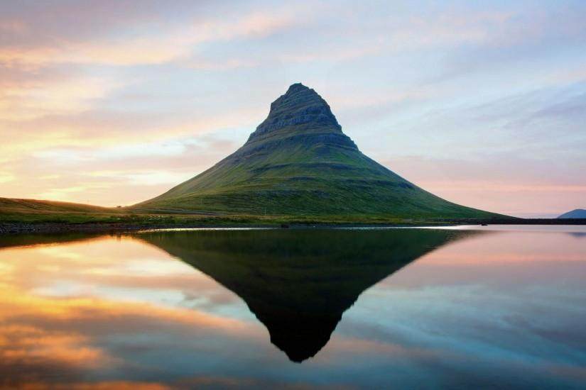 Preview wallpaper iceland, mountains, lake, reflection 1920x1080