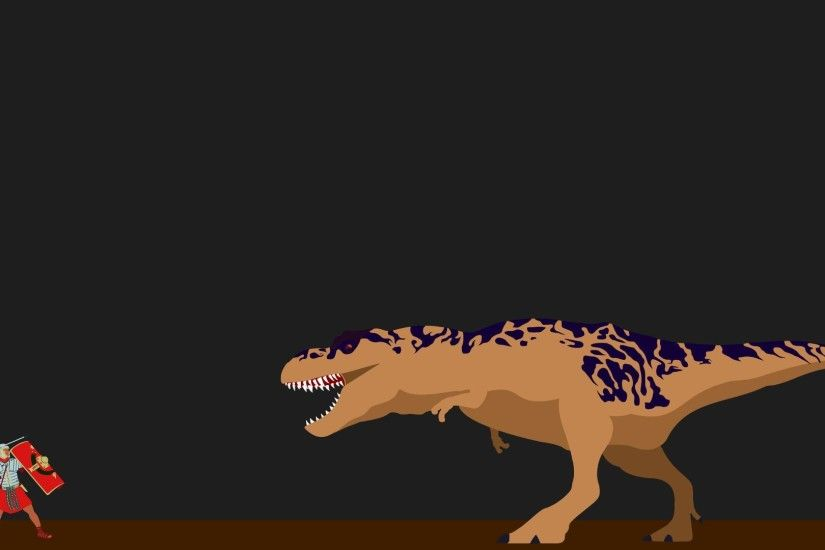 Simplistic Roman Vs T-Rex (OC) [1920 x 1080] Higher Resolution