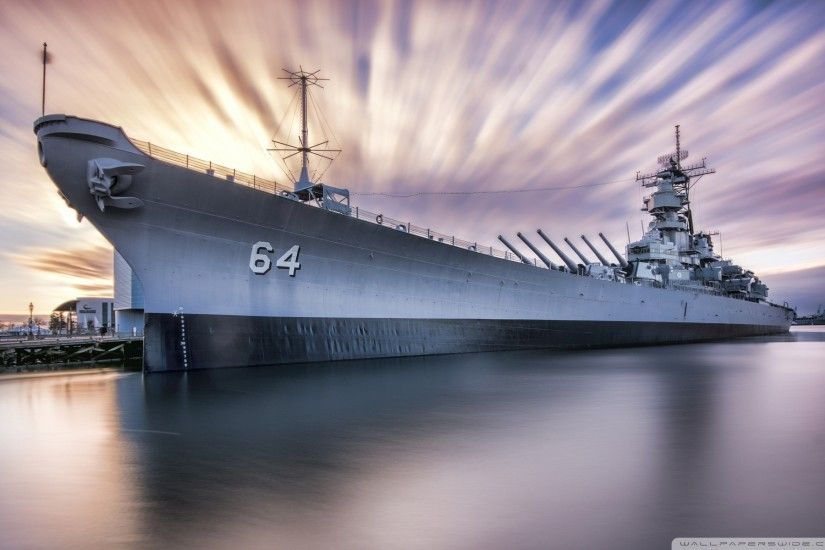 Battleship Class Iowa USS Wisconsin Wallpaper