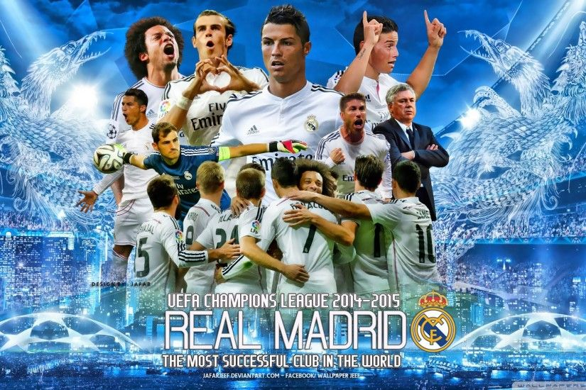 cool Reeal Madrid Champions League Wallpaper