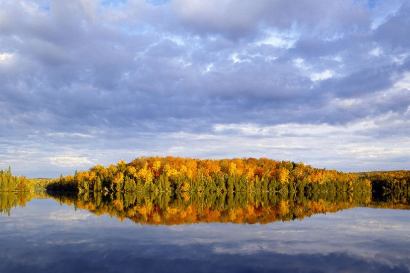 Reflections of Autumn in Nine Mile Lake, Superior National Forest, Minnesota