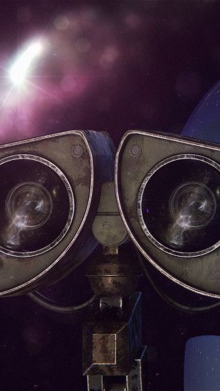 1440x2560 Wallpaper wall-e, eva, robots, couple