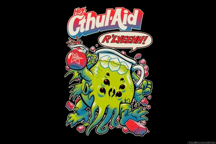 Download Free Wallpaper Lovecraft Kool Aid Cthulhu