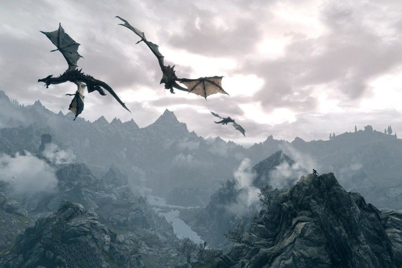 Skyrim Dragon Wallpaper HD