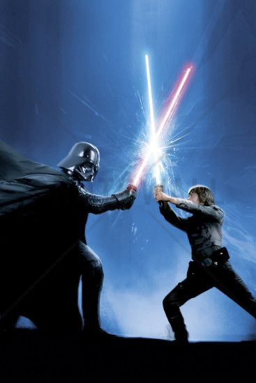 Star Wars - Darth Vader and Luke Skywalker - Wall Mural & Photo Wallpaper…