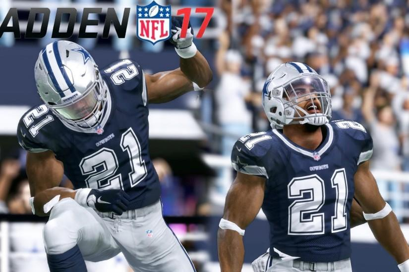 EZEKIEL ELLIOT HAS GREATEST GAME IN NFL HISTORY! - MADDEN 17 CONNECTED  FRANCHISE GAMEPLAY