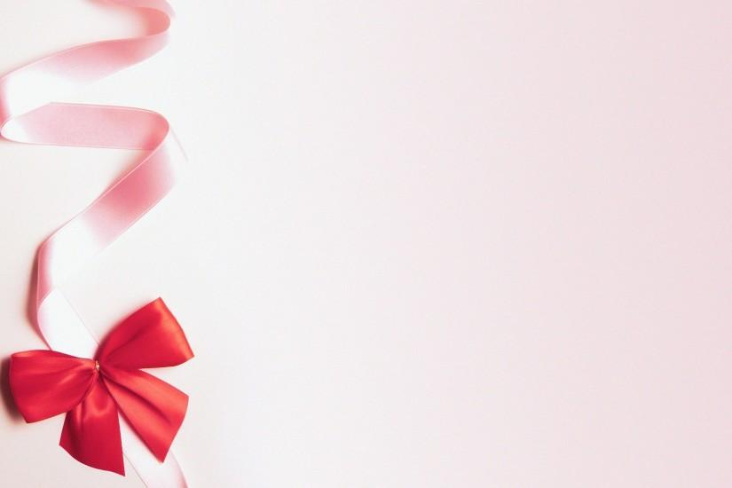 Cute pink wallpaper HD ribbon.