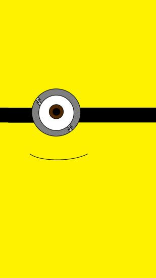 2014 Halloween all yellow one big eye minion iphone 6 plus wallpaper - Despicable  Me iphone